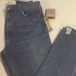 NWT reformation skinny jeans with distressed look